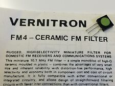 VERNITRON FM4 VINTAGE 10.7Mhz CERAMIC FILTER & DATA (x1)   blb114