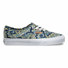 VANS Authentic + (Paisley) Dress Blues Casual Skate MEN'S 8 WOMEN'S 9.5