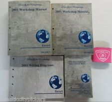 2001 FORD ESCORT SERVICE SHOP REPAIR MANUALS WITH WIRING DIAGRAMS & SPEC BOOK