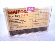 CASSETTE TAPE BLANK SEALED - 1x (one) GRUNDIG super ferro S-90 very RARE 70's