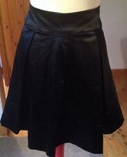 Black Satin Oasis Full Skirt/Size 12/Occasion/Retro/Pin Up/Dolly/50's/Gothic