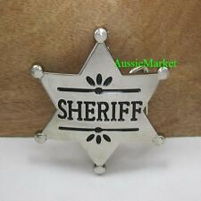 1 x mens belt buckle quality metal alloy sheriff badge western jeans cowboy new