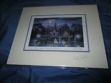HAUNTED MANSION Signed Art Print Larry Dotson~Disney Exclusive HITCHHIKING GHOST