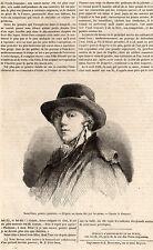 ARTICLE PRESSE 1850  JEAN PIERRE SAINT OURS PEINTRE GENEVE SUISSE SCHWEIZ