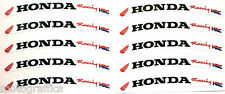 Honda CBR Racing Fireblade Wheel Rim Logo Sticker Decal x 10 Red  / BlackHRC