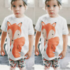1-6Y Short Sleeve Baby Kids Boys Girls T-shirt Tops Tees Shirts Blouse Clothing