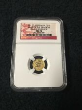 1/20 oz Pure Gold Coin - 2012P Australia G$5 Year Of The Dragon MS-70