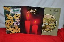trio IDEALS CHRISTMAS COUNTRY FAMILY ISSUE  BOOKS Stories CRAFTS ++