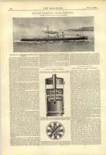 1888 GOVERNO Olandese Torpediniera empong David Wood cradley Heath CALDAIA