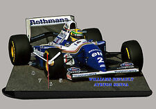 MODEL CARS, FORMULA ONE , F1, AYRTON SENNA, WILLIAMS RENAULT-01 with Clock