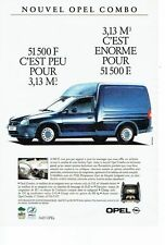 PUBLICITE ADVERTISING 126  1993   Opel  le nouveal Combo   utilitaire fourgon