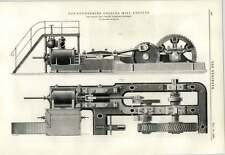 1891 ferro da Bowling società BRADFORD DENTATURA Mill MOTORI Incisione
