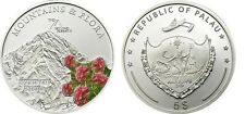 2011 Palau Large  Proof Color Silver $5 Flowers/Mount DYKH-TAU