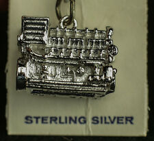 VINTAGE STERLING SILVER D398 ENGINE / MOTOR .925 CATERPILLAR 3D Charm NEW