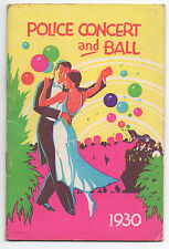 1930 Color Booklet Police Concert & Ball Widows & Orphans San Francisco CA