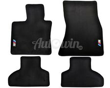 BMW X5M Series F85 Black Floor Mats With ///M Emblem Clip LHD