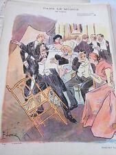 Caricature 1896 Dans le Monde Les Raseurs  dessin de Lunel
