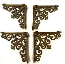 CAST IRON WINDOW DOOR CORNER DESIGNS 4 MATCHING FLEUR DE LIS  & CURLY QUE