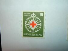 1953 WEST GERMANY 10pf RED CROSS & Bussola Nuovo di zecca a battente (sg1090) CV £ 28