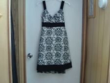 Womens Black & White Summer Floral Dress By Speechless Size 9