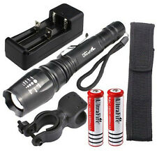 5000LM Con zoom Facus XM-L T6 linterna flash LED Ligero+2X18650