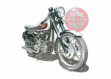 Greeting Card, BSA Gold Star DBD34, A5 size