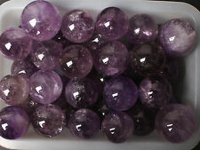 Wholesale price!2.2lb 20-25Pcs Natural Amethyst Crystal Sphere Healing141