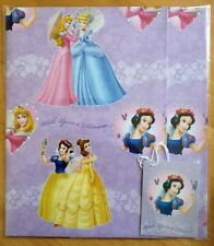 Disney Princess Wrapping Paper - 2 Sheets & 2 Tags (approx 50x69.5cm)