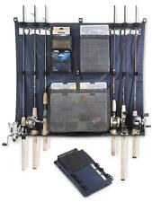 FISHING 6 ROD REEL TACKLE DOCKER 17x27 Organized Wall Door Mount Storage Holder