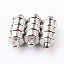 10X Silver Magnetic Clasps Jewelry For Necklace Bracelets Making Findings 15x6mm