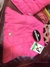 SIMPLY DOG JACKET Size Medium Pink Reversible  NEW PET ACCESSORIES
