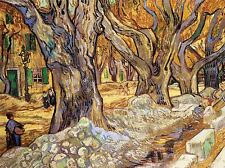 VAN GOGH LARGE PLANE TREES OLD MASTER ART PAINTING PRINT 2841OMA