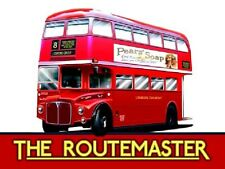 New London Transport ROUTEMASTER BUS enamel style metal advertising sign 15x20cm