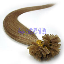 "New 100s18""Thick Pre Bonded Nail U Tip Keratin Fusion Remy Human Hair Extensions"