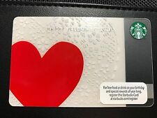 STARBUCKS Card Valentine's Day 2013 Heart - FREE SHIPPING