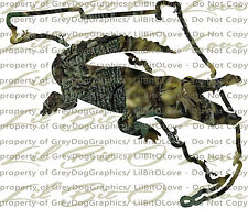 Camo Alligator Gator Florida State Outline Hunter Vinyl Decal Sticker Hunting
