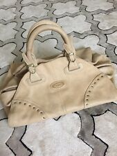 WOMEN'S TOD'S HANDBAG, BEIGE LEATHER