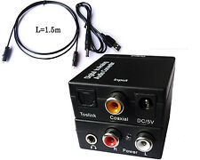 XUUK Optical Digital Coaxial Toslink to Analog Audio RCA L/R Adapter Converter