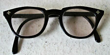 Vtg 50s Bausch & Lomb Horn Rim Safety Glasses Goggles Steampunk Rockabilly 6 1/4