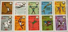 KUWAIT 1980 862-71 4er 820-29 Olympics Moscow Tennis Judo Fencing Soccer MNH