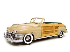 1948 CHRYSLER TOWN AND COUNTRY CREAM 1/18 DIECAST CAR MODEL BY SUNSTAR 6140