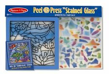 """Melissa and Doug Peel and Press """"Stained Glass"""" Undersea Fantasy , New, Free Shi"""