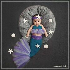 Infant newborn photography props baby Costume Mermaid Clothing accessories