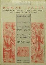 L 6.491 LIBRO ROMAE VATES ANTOLOGIA DELLE OPERE ORAZIANE DI L ANNIBALETTO
