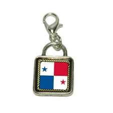 Flag of Panama Dangling Bracelet Pendant Square Charm