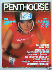 Penthouse (D) 1/1985, Georg Danzer, Pat Benater,  Sting, Jeanette Starion