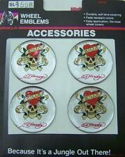 ED HARDY CAR TRUCK GOLF CART MAG CHROME WHEEL RIMS CENTRE EMBLEM DECALS STICKERS