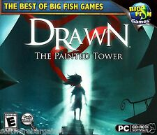 BIG FISH GAMES:DRAWN:THE PAINTED TOWER. EXPLORE ENCHANTED WORLDS.NEW.SHIPS FREE!