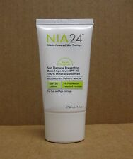 NIA 24 Travel Size Sun Damage Prevention 100 % Mineral Sunscreen SPF 30 - 1 oz.