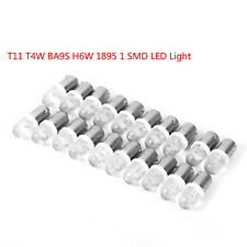 20x White T11 T4W BA9S H6W 1895 1SMD LED 12V Turn Signal Dashboard Light Bulb AP